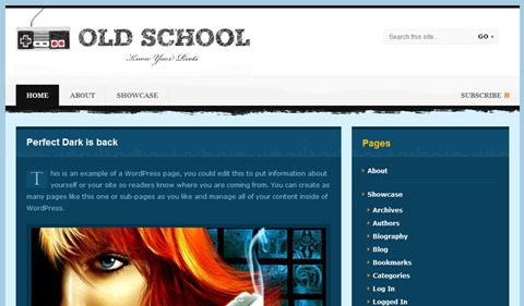 old school 35 Blog & Portfolio Free Wordpress Theme
