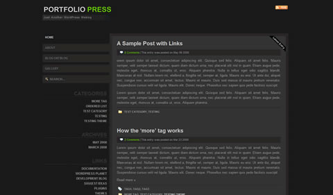 portfolio press 35 Blog & Portfolio Free Wordpress Theme