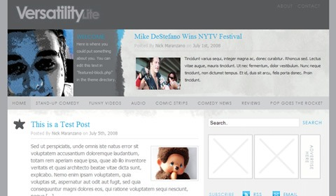 versatility lite 35 Blog & Portfolio Free Wordpress Theme