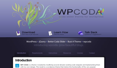 wp coda 35 Blog & Portfolio Free Wordpress Theme