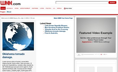cnn 16 Wordpress Theme Clones Based on Popular Websites