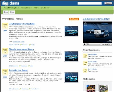 digg 16 Wordpress Theme Clones Based on Popular Websites