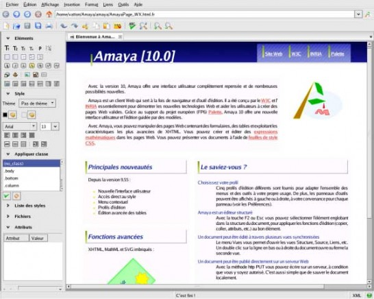 amaya 546x436 Six Free Alternatives to Dreamweaver