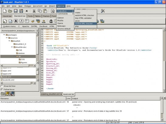 bluefish cygwin 3 546x409 Six Free Alternatives to Dreamweaver