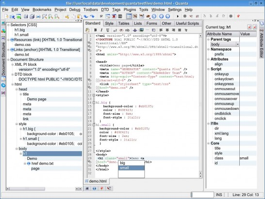 quantaplus 546x411 Six Free Alternatives to Dreamweaver