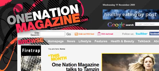 One nation magazine 46 Creative Header Designs For Inspiration