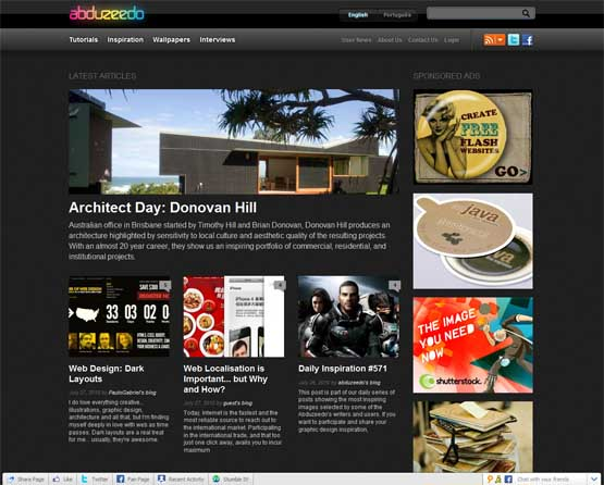 abduzeedo 21 Most Influential Web Design Blogs of 2009