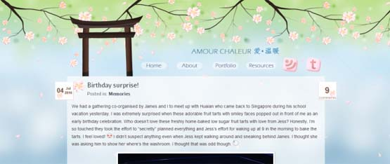 amour 46 Creative Header Designs For Inspiration