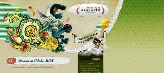 creative wordpress header design ayaka ito 46 Creative Header Designs For Inspiration