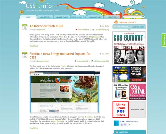 css3info 21 Most Influential Web Design Blogs of 2009