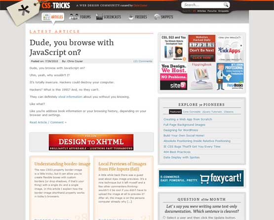 css tricks 21 Most Influential Web Design Blogs of 2009