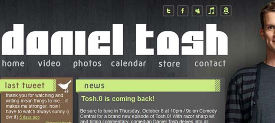 daniel tosh 46 Creative Header Designs For Inspiration