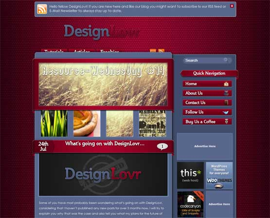 designlovr 21 Most Influential Web Design Blogs of 2009