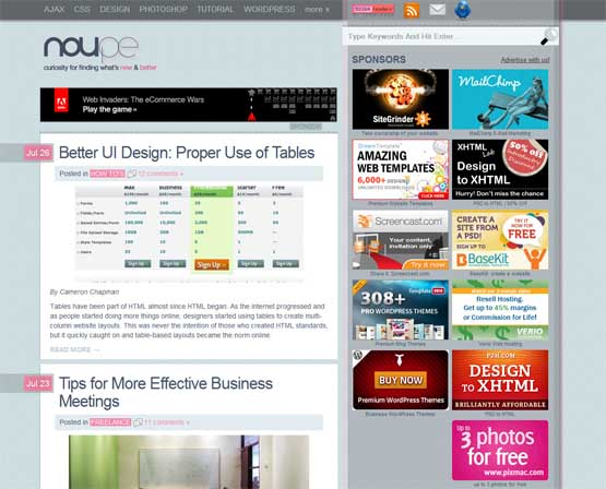 noupe 21 Most Influential Web Design Blogs of 2009