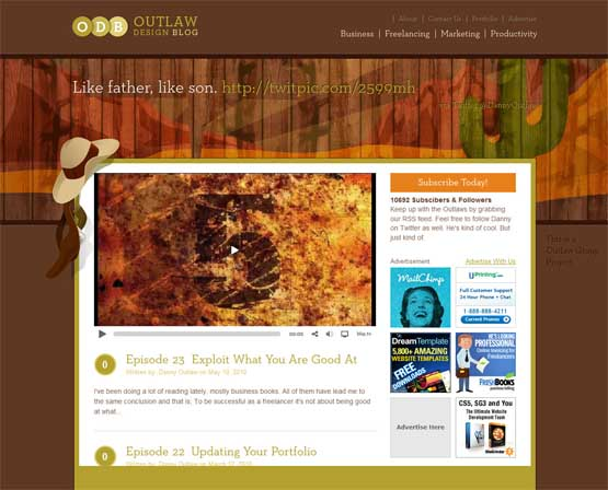 outlaw design blog 21 Most Influential Web Design Blogs of 2009
