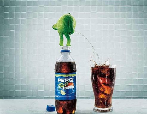 pepsi twist 21 Creative And Beautiful Advertisements