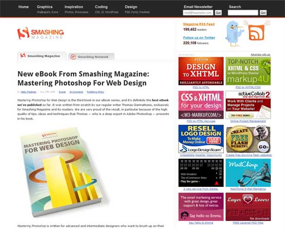 smashing magazine 21 Most Influential Web Design Blogs of 2009