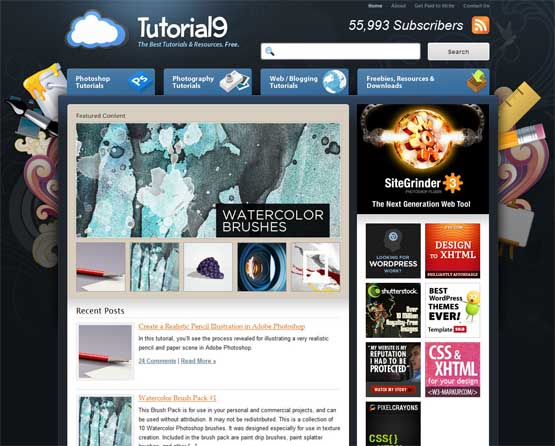tutorial9 21 Most Influential Web Design Blogs of 2009