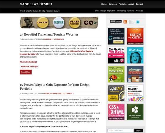 vandelaydesign 21 Most Influential Web Design Blogs of 2009