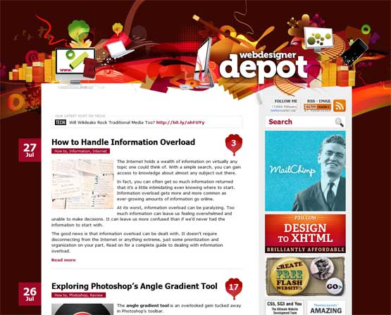 webdesigner depot 21 Most Influential Web Design Blogs of 2009