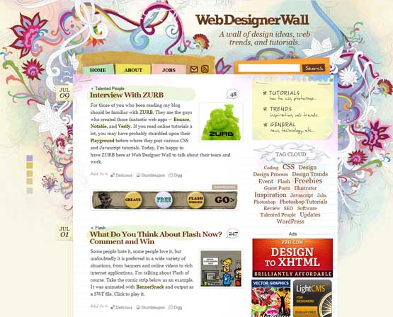 webdesigner wall 21 Most Influential Web Design Blogs of 2009