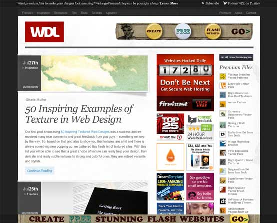 webdesignledger 21 Most Influential Web Design Blogs of 2009