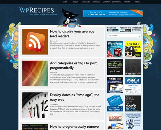 wprecipes 21 Most Influential Web Design Blogs of 2009