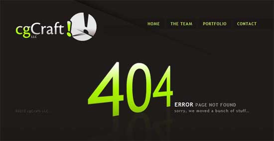 cgcraft404 99 Creative 404 Error Pages