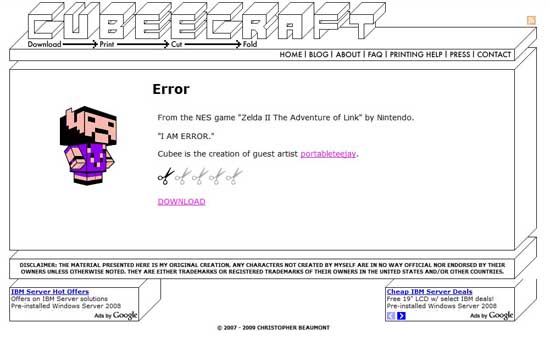 cubeecraft404 99 Creative 404 Error Pages