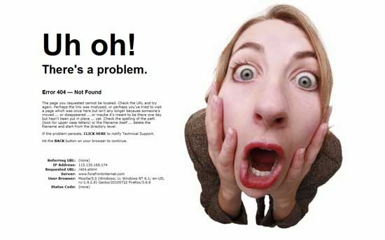 forefrontinternet404 99 Creative 404 Error Pages