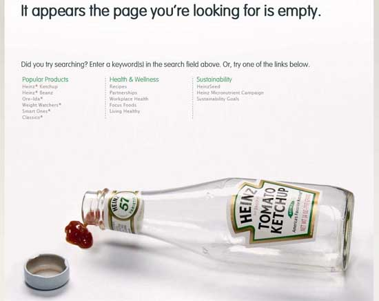 heinz404 99 Creative 404 Error Pages