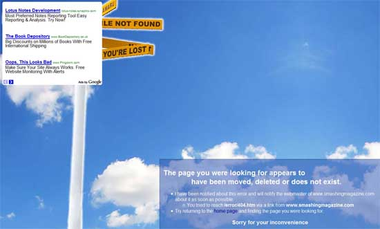 martinkorner404 99 Creative 404 Error Pages