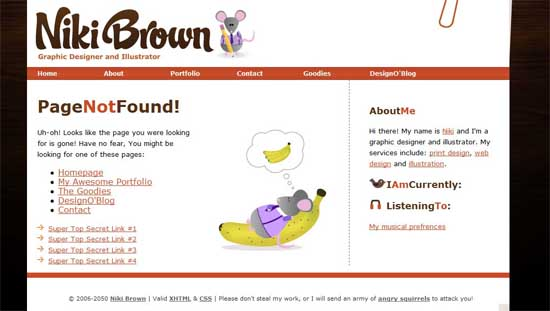 nikibrown404 99 Creative 404 Error Pages