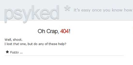 psyked404 99 Creative 404 Error Pages