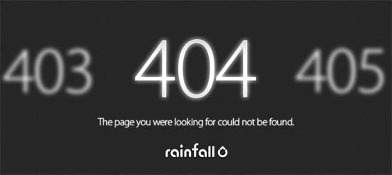rainfall404 99 Creative 404 Error Pages