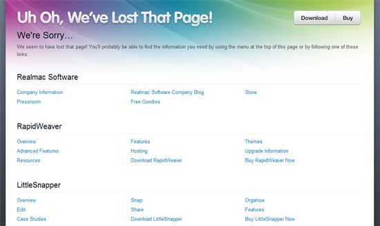 realmacsoftware404 99 Creative 404 Error Pages