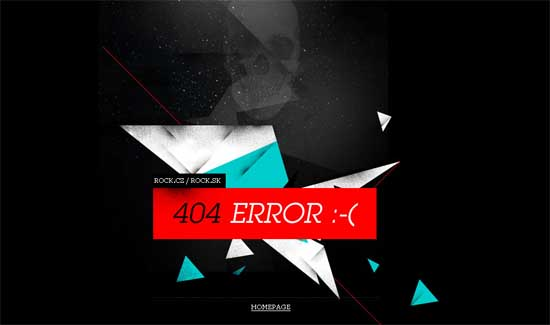 rock404 99 Creative 404 Error Pages