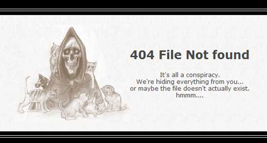 scythe404 99 Creative 404 Error Pages