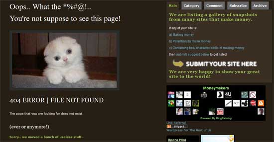whuzzah404 99 Creative 404 Error Pages