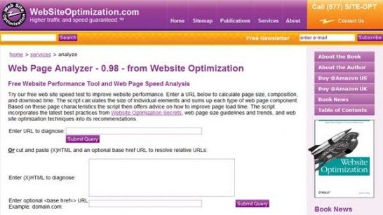 WebPageAnalyzer 546x307 20 Website Speed and Performance Checking Tools