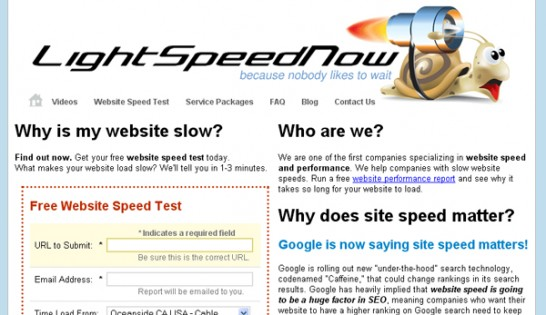 lightspeednow 546x315 20 Website Speed and Performance Checking Tools
