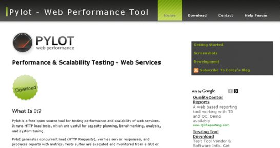 pylot 546x289 20 Website Speed and Performance Checking Tools