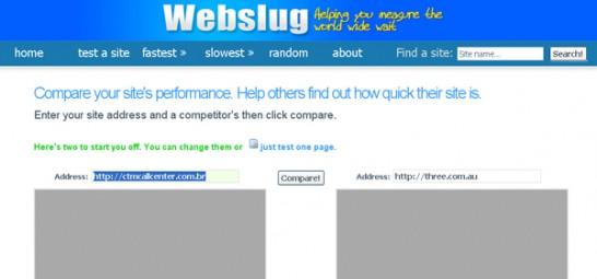 webslug 546x255 20 Website Speed and Performance Checking Tools