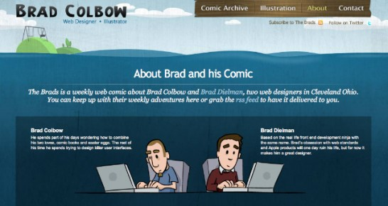 brad colbow 546x290 20 Creative Example of Blog Bio Pages