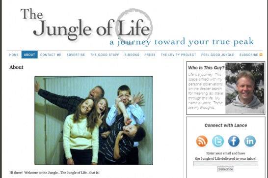the jungle of life 546x362 20 Creative Example of Blog Bio Pages