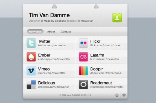 tim van damme 546x361 20 Creative Example of Blog Bio Pages