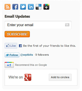 social sidebar WPTidBits now featuring CSS3, HTML5 and Fluid & Responsive Design