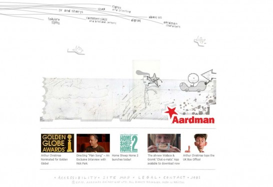 aardman 546x374 36 Cartoon Style Website Design for Inspirations