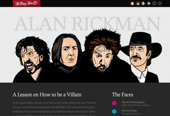 alan rickman 546x374 36 Cartoon Style Website Design for Inspirations