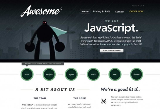 awesomejs 546x374 36 Cartoon Style Website Design for Inspirations